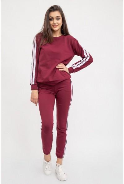 Спорт костюм женский 119R608 цвет Бордовый