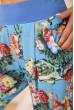 Летние хлопковые штаны с цветочным принтом цвет Голубой 172R63-1 скидка