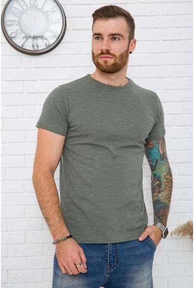 Однотонная темно-оливковая мужская футболка 119R300 59996