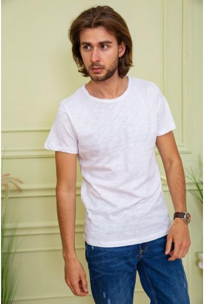 Однотонная белая мужская футболка 119R300 59970