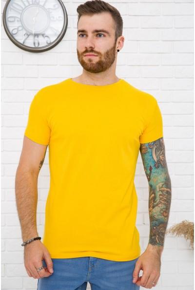 Однотонная желтая мужская футболка 119R300 59972