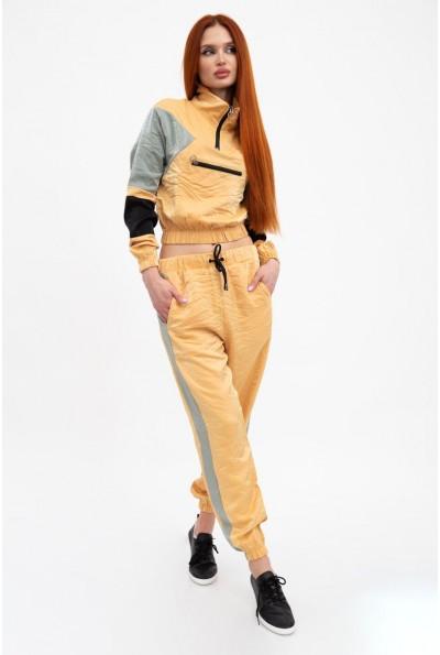 Спортивный костюм женский, горчичный 103R2003