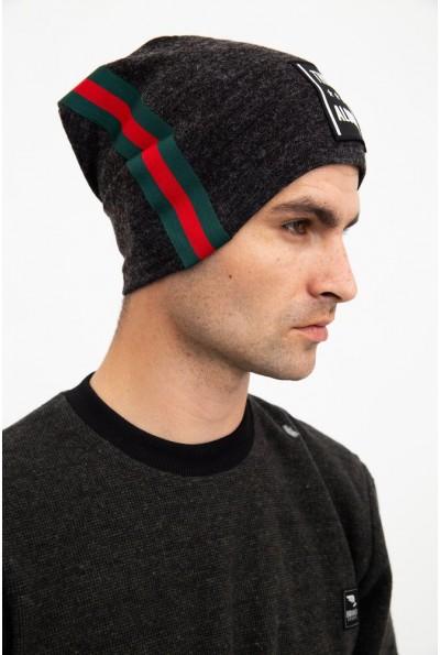 Темно-серая шапка мужская 126R032