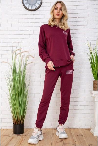 Летний спортивный костюм женский цвет Бордовый 129R15115 57131
