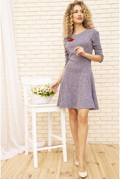 Платье женское расклешенное с цветком цвет Сиреневый 167R1071-2