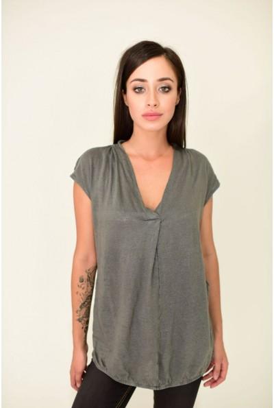 Блуза женская AG-0010932 цвет Темно-серый