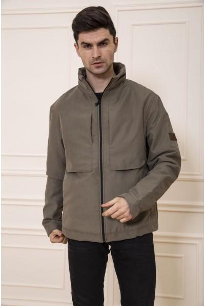 Куртка мужская демисезонная без капюшона цвет Хаки 131R019-02 48144