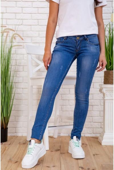 Джинсы женские Скинни со средней посадкой цвет Синий 167R3302 58002