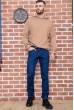 Джинсы мужские на флисе   цвет синий 129R2097 недорого