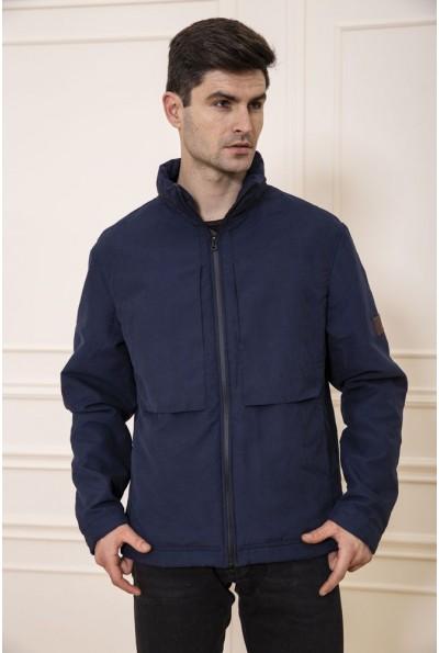 Куртка мужская демисезонная без капюшона цвет Синий 131R019-02 48086