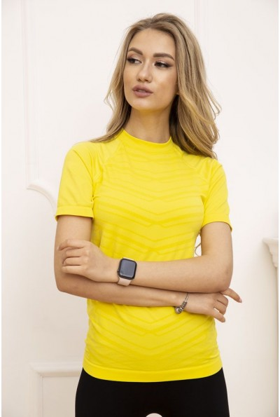 Футболка спортивная женская 117R121 цвет Желтый
