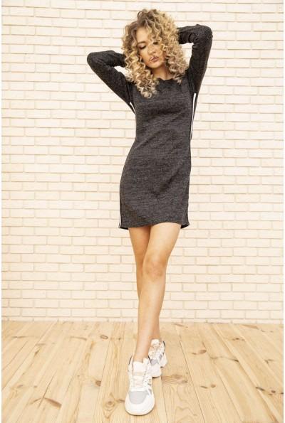 Платье женское мини с лампасами цвет Грифельный 167R1072-1