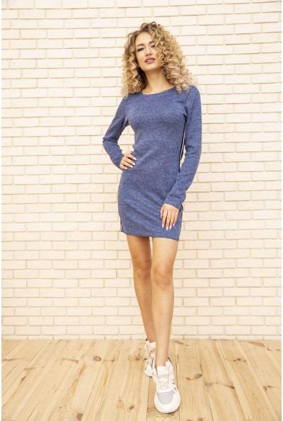 Платье женское мини с лампасами цвет Джинс 167R1072-1