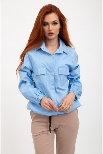 Рубашка женская 119R0406 цвет Голубой