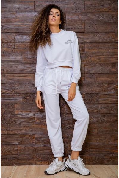 Демисезонный спортивный костюм женский белый 129R7806 63208