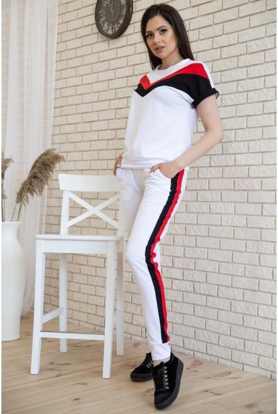 Костюм женский с коротким рукавом в стиле ретро цвет Белый 102R048 33180