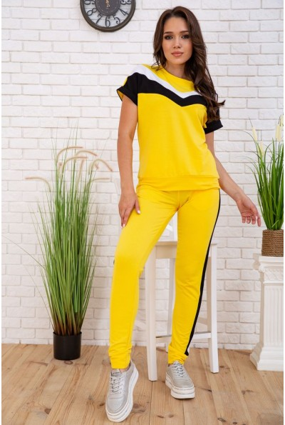 Костюм женский с коротким рукавом летний цвет Желтый 102R048 33182