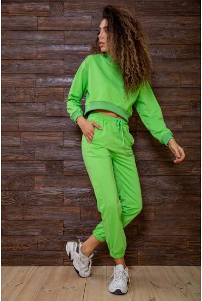 Салатовый спортивный костюм женский с длинными рукавами 129R7806 63210