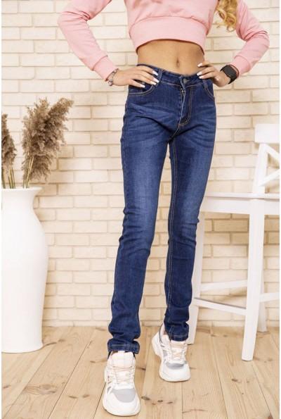 Женские джинсы скинни синего цвета 129R607 48447