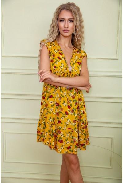 Платье женское 115R411-1 цвет Горчичный 61993