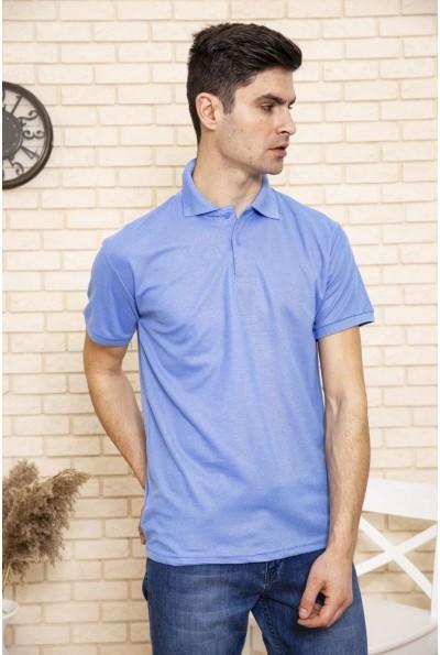 Поло мужское хлопковое с коротким рукавом Темно-голубой 168RA2-5 50060