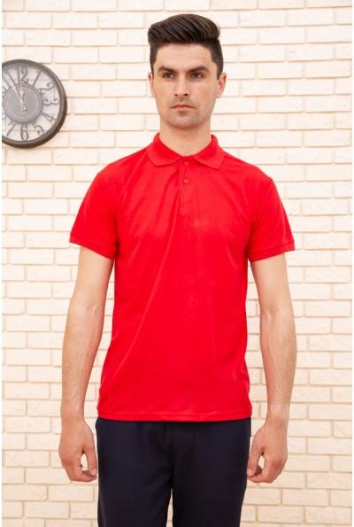 Поло мужское хлопковое с коротким рукавом цвет Красный 168RA2-5 47993