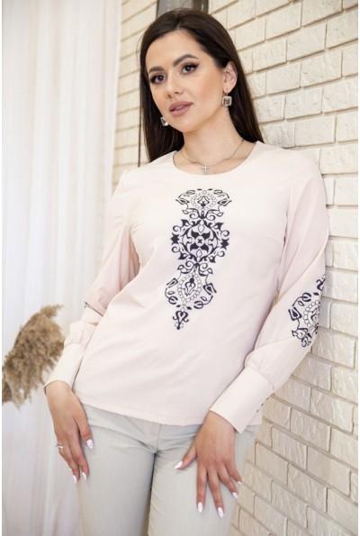Блуза женская с орнаментом цвет Бежевый 172R1290