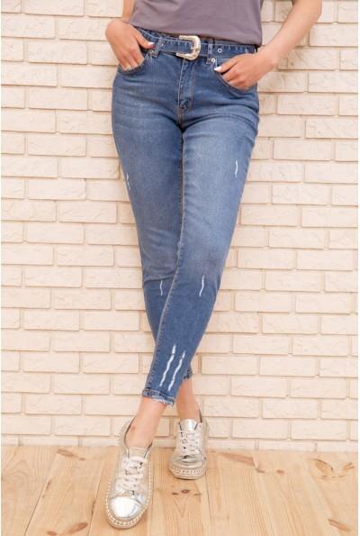 Женские джинсы скинни укороченные цвет Синий 131R4345
