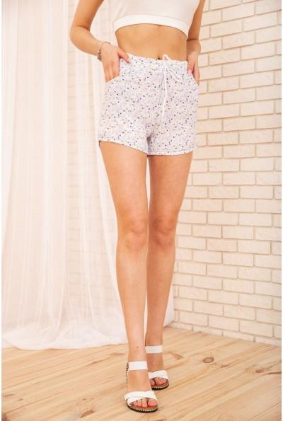 Короткие женские шорты на резинке Цветочный принт 129R1530 55123