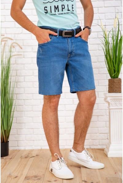Джинсовые шорты мужские 129R1955 цвет Синий 57740