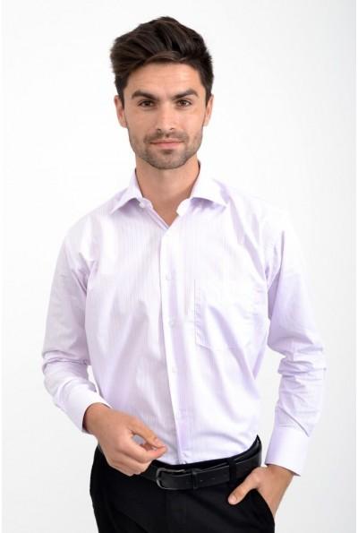 Рубашка розовая в голубую полоску 0808-154