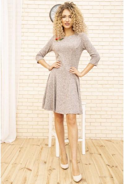Платье женское расклешенное с цветком цвет Пудровый 167R1071