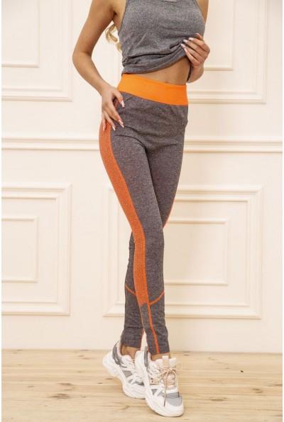 Лосины женские 129R829-3 цвет Серо-оранжевый 50974