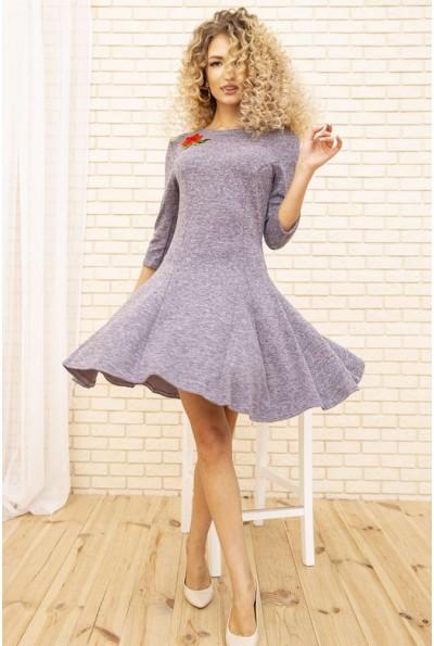 Платье женское расклешенное с цветком цвет Сиреневый 167R1071
