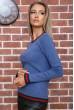 Свитер женский  цвет джинс 131R9022 недорого