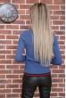 Свитер женский  цвет джинс 131R9022 скидка