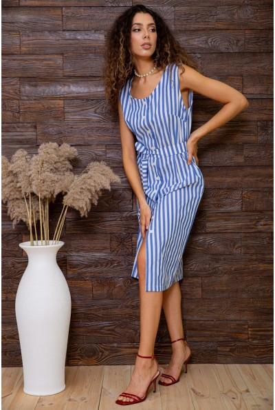 Платье  в полоску  цвет сине-белый 167R8-5 62819