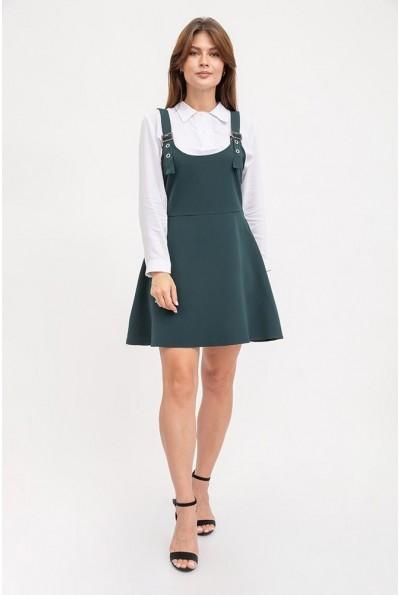 Сарафан женский темно-зеленый, офисный стиль 119R315