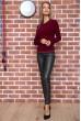 Свитер женский  цвет бордовый 131R9022 недорого