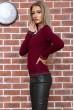 Свитер женский  цвет бордовый 131R9022 стоимость