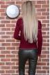 Свитер женский  цвет бордовый 131R9022 цена 769.0000 грн