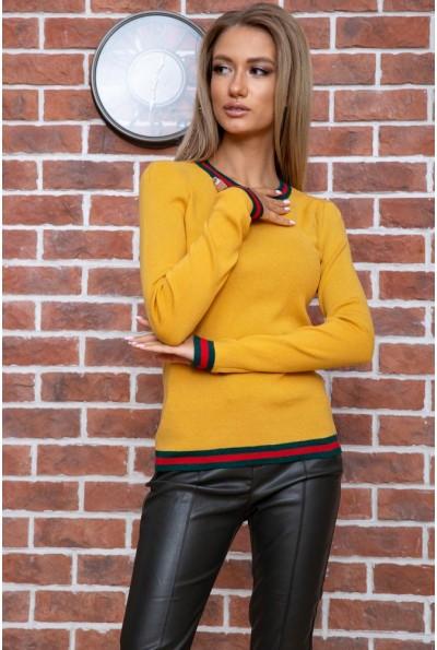 Свитер женский  цвет горчичный 131R9022 66501