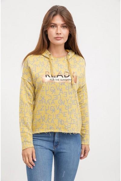 Толстовка женская AG-0009621 цвет Желтый
