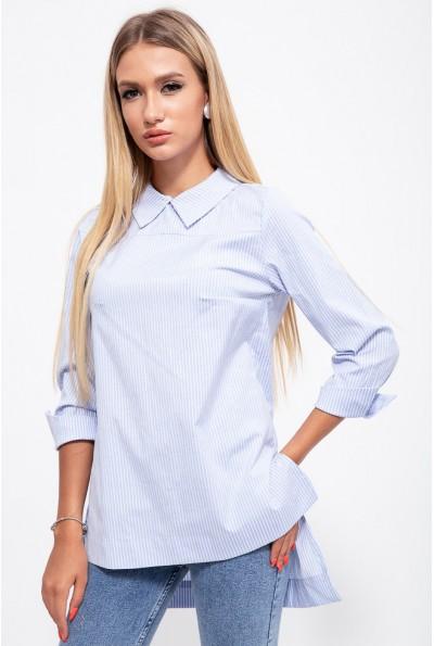 Блузка 115R191-12 цвет Бело-голубой