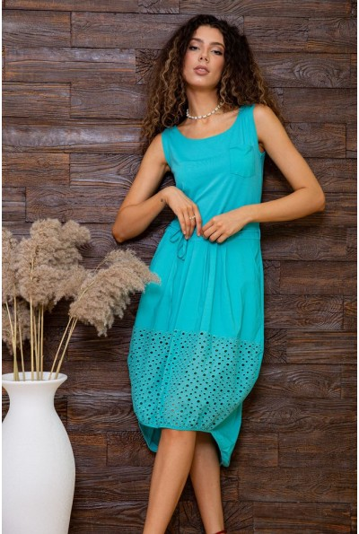 Платье  цвет бирюзовый 167R3-7 62939