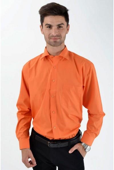 Рубашка классическая кирпичная 818-68