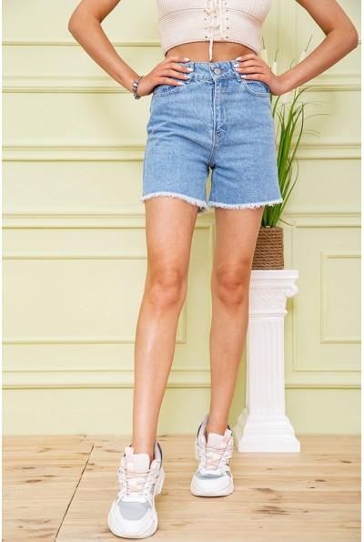 Джинсовые шорты женские 164R2094 цвет Голубой 59065