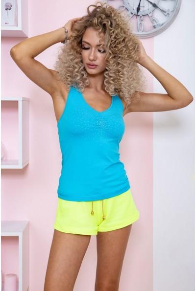 Майка женская для фитнеса 167R798 цвет Голубой 59606