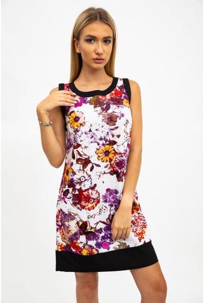 Платье-сарафан, женское, хлопковое, бело-бордовое 115R113