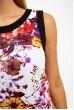 Платье-сарафан, женское, хлопковое, бело-бордовое 115R113 скидка